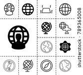 geography icons. set of 13... | Shutterstock .eps vector #789365008