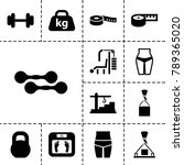 weight icons. set of 13... | Shutterstock .eps vector #789365020