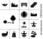 relaxation icons. set of 13... | Shutterstock .eps vector #789365134