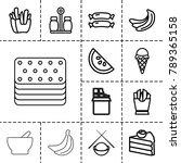 tasty icons. set of 13 editable ... | Shutterstock .eps vector #789365158