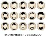 set of round icons of different ... | Shutterstock .eps vector #789365200