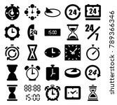 hour icons. set of 25 editable... | Shutterstock .eps vector #789366346