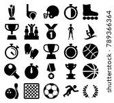 competition icons. set of 25... | Shutterstock .eps vector #789366364