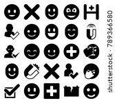 positive icons. set of 25... | Shutterstock .eps vector #789366580
