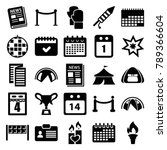 event icons. set of 25 editable ... | Shutterstock .eps vector #789366604
