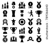 trophy icons. set of 25... | Shutterstock .eps vector #789366640