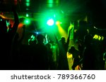 silhouettes of concert crowd at ...   Shutterstock . vector #789366760