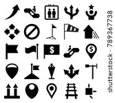 direction icons. set of 25... | Shutterstock .eps vector #789367738