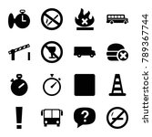 stop icons. set of 16 editable... | Shutterstock .eps vector #789367744
