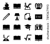study icons. set of 16 editable ... | Shutterstock .eps vector #789367993
