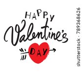 happy valentine's day... | Shutterstock .eps vector #789368626
