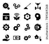 gear icons. set of 16 editable... | Shutterstock .eps vector #789369268