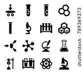 scientific icons. set of 16... | Shutterstock .eps vector #789369373