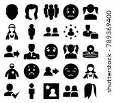 avatar icons. set of 25... | Shutterstock .eps vector #789369400
