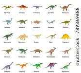 animal character dinosaur... | Shutterstock .eps vector #789369688
