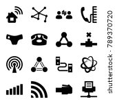 connect icons. set of 16... | Shutterstock .eps vector #789370720