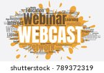 webcast or web conference word...   Shutterstock .eps vector #789372319