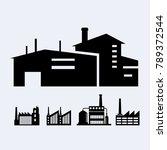 a set of design industrial | Shutterstock .eps vector #789372544
