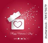 valentine's day concept vector... | Shutterstock .eps vector #789375079