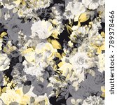 seamless floral pattern with... | Shutterstock .eps vector #789378466