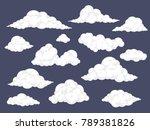 set of cartoon clouds. fluffy...   Shutterstock .eps vector #789381826