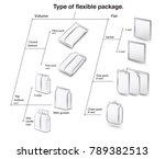 set of types of flexible... | Shutterstock .eps vector #789382513