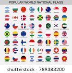 world national flags round... | Shutterstock .eps vector #789383200