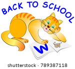 illustration of curious kitten... | Shutterstock .eps vector #789387118