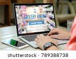 hands typing laptop computer...   Shutterstock . vector #789388738