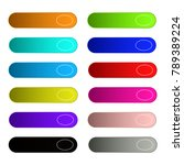 colorful set of web buttons... | Shutterstock .eps vector #789389224