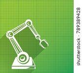 vector robotic arm symbol on... | Shutterstock .eps vector #789389428