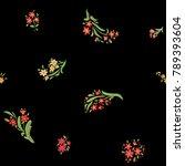 floral seamless pattern. hand... | Shutterstock .eps vector #789393604