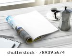 clean magazine page | Shutterstock . vector #789395674