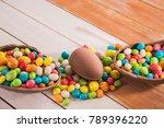 easter dessert tasty chocolate...   Shutterstock . vector #789396220