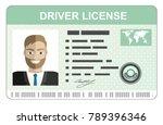 car driver license... | Shutterstock . vector #789396346