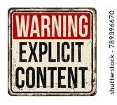 warning explicit content... | Shutterstock .eps vector #789396670