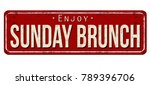 sunday brunch vintage rusty... | Shutterstock .eps vector #789396706