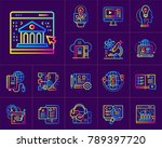 linear icon set of online... | Shutterstock . vector #789397720