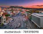athens plaka view    Shutterstock . vector #789398098