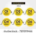 yellow linear infographic... | Shutterstock .eps vector #789399466