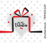 be my valentine template for... | Shutterstock .eps vector #789402169