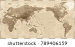 world map physical vintage  ... | Shutterstock .eps vector #789406159