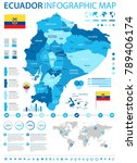 ecuador infographic map and... | Shutterstock .eps vector #789406174