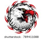eagle head symbol. | Shutterstock . vector #789411088