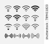 wifi internet connection vector ... | Shutterstock .eps vector #789411823