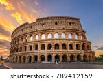 Sunrise View Of Colosseum In...