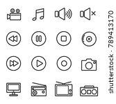 multimedia icon  vector set | Shutterstock .eps vector #789413170