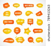 vector stickers  price tag ... | Shutterstock .eps vector #789413263