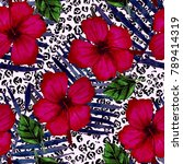 watercolor seamless pattern... | Shutterstock . vector #789414319