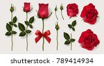 realistic of red roses and... | Shutterstock .eps vector #789414934